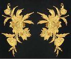 6 Paar historische Applikationen AF45-1 Farbe: Gold