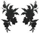 6 Paar historische Applikationen AF45-3 Farbe: Schwarz