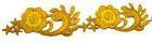 1m Goldbortenapplikation 50mm breit Farbe: Gold