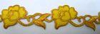 1m Goldbortenapplikation 40mm breit Farbe: Gold