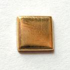 100 Bügelnieten Viereck 8x8mm Farbe: Gold CHAN3-23