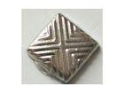 100 Bügelnieten Viereck 8x8mm Farbe: Silber CHAN3-24