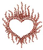 B-Ware!! Bügelbild Flammen - Herz Farbe: Rot 9,5x11cm