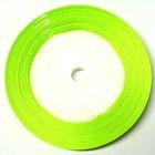 22,75m Satinband 9mm breit Farbe: Grasgrün
