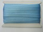 32m Satinschrägband 15mm breit 3-fach gefalzt Farbe: Hellblau