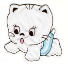 Katze 6 x7 cm AA470-12