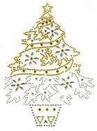 B-Ware!! 1x Bügelbild Weihnachtsbaum 13 x 18 cm A-16