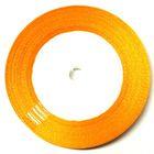 10 Rollen a 22,75m Satinband 6mm breit Farbe: Orange
