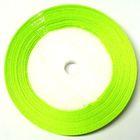10 Rollen a 22,75m Satinband 6mm breit Farbe: Grasgrün