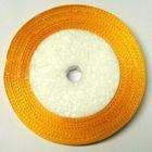 10 Rollen a 22,75m Satinband 12mm breit Farbe: Gelb-Orange