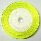 10 Rollen a 22,75m Satinband 12mm breit Farbe: Neongrün