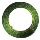 10 Rollen a 22,75m Satinband 12mm breit Farbe: Zedergrün