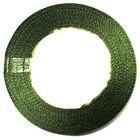 10 Rollen a 22,75m Satinband 12mm breit Farbe: Zedergrün hell