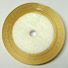 10 Rollen a 45m Satinband 3mm breit Farbe: Beige