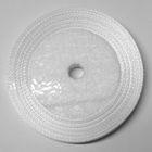 10 Rollen a 45m Satinband 3mm breit Farbe: Weiss