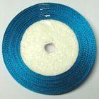 10 Rollen a 45m Satinband 3mm breit Farbe: Blau-Grün