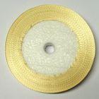 10 Rollen a 45m Satinband 3mm breit Farbe: Hellbraun