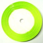 10 Rollen a 45m Satinband 3mm breit Farbe: Grasgrün