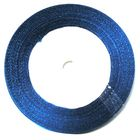 10 Rollen a 45m Satinband 3mm breit Farbe: Blau