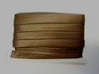 32m Satinschrägband 15mm breit 3-fach gefalzt Farbe: Coffee