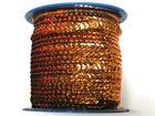 72m Paillettenband Cup 6mm breit Farbe: Kupfer CHAN5-1/3-M45