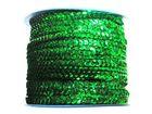 72m Paillettenband Cup 6mm breit Farbe: Grün CHAN5-1/3-4