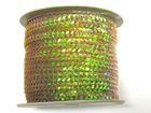 72m Paillettenband Plan 6mm breit Farbe: Hellbraun-Transparent