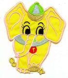 1 Applikation Elefant 9,5 x 11cm Farbe: Gelb AA472-5