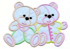 1 Applikation 2 Teddy`s 15 x 10cm Farbe: Blau AA472-14