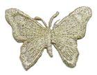 1 Applikation Schmetterling 7x5,5cm Farbe: Lurex-Silber