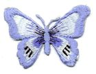 1 Applikation Schmetterling 7 x 5,5cm Farbe: Hellblau