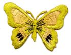 1 Applikation Schmetterling 7 x 5,5cm Farbe: Ocker