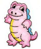 1 Applikation Krokodil 4 x 6cm Farbe: Pink AA469-32