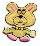 1 Applikation Teddy Bär 4 x 5cm Farbe: Hellbraun AA469-38
