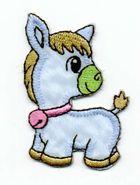 1 Applikation Pony Pferdchen 4 x 6,5cm Farbe: Blau AA469-41