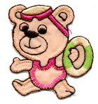 1 Applikation Teddy Bär 4,5 x 5cm Farbe: Terracotta AA469-46