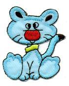 1 Applikation Tiger 4,5 x 5,5cm Farbe: Blau AA469-68