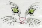 B-Ware!! Bügelbild Bügelmotiv Katzengesicht 12 x 8cm