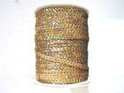 81m Paillettenband Cup 6mm breit Farbe: Altgold-Laser JE31-M19