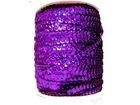 72m Paillettenband Cup 6mm breit Farbe: Dark Purple-Laser
