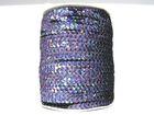 81m Paillettenband Cup 6mm breit Farbe: Black Diamond-Laser JE31-A30