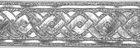 10m Brokat Borte Webband 35mm breit Farbe: Lurex-Silber
