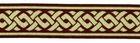 10m Mittelalter Borte Webband 35mm breit Farbe: braun/gold