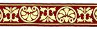 10m Mittelalter Borte Webband 35mm breit Farbe: Bordeaux-Gold