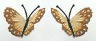 1 Paar Schmetterlinge zum Aufnähen 7,5 x 7cm