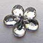500 Stück Polyacrylsteine Blumen 9mm Farbe: Crystal