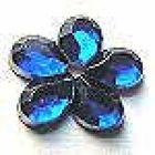 500 Stück Polyacrylsteine Blumen 9mm Farbe: Royalblue
