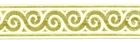 10m Jacquard Borte Webband Stoff 16mm breit Farbe: creme