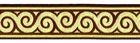 10m Jacquard Borte Webband Stoff 16mm breit Farbe: Braun-Gold