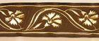 10m Mittelalter Borte Webband 16mm breit Farbe: Braun-Gold